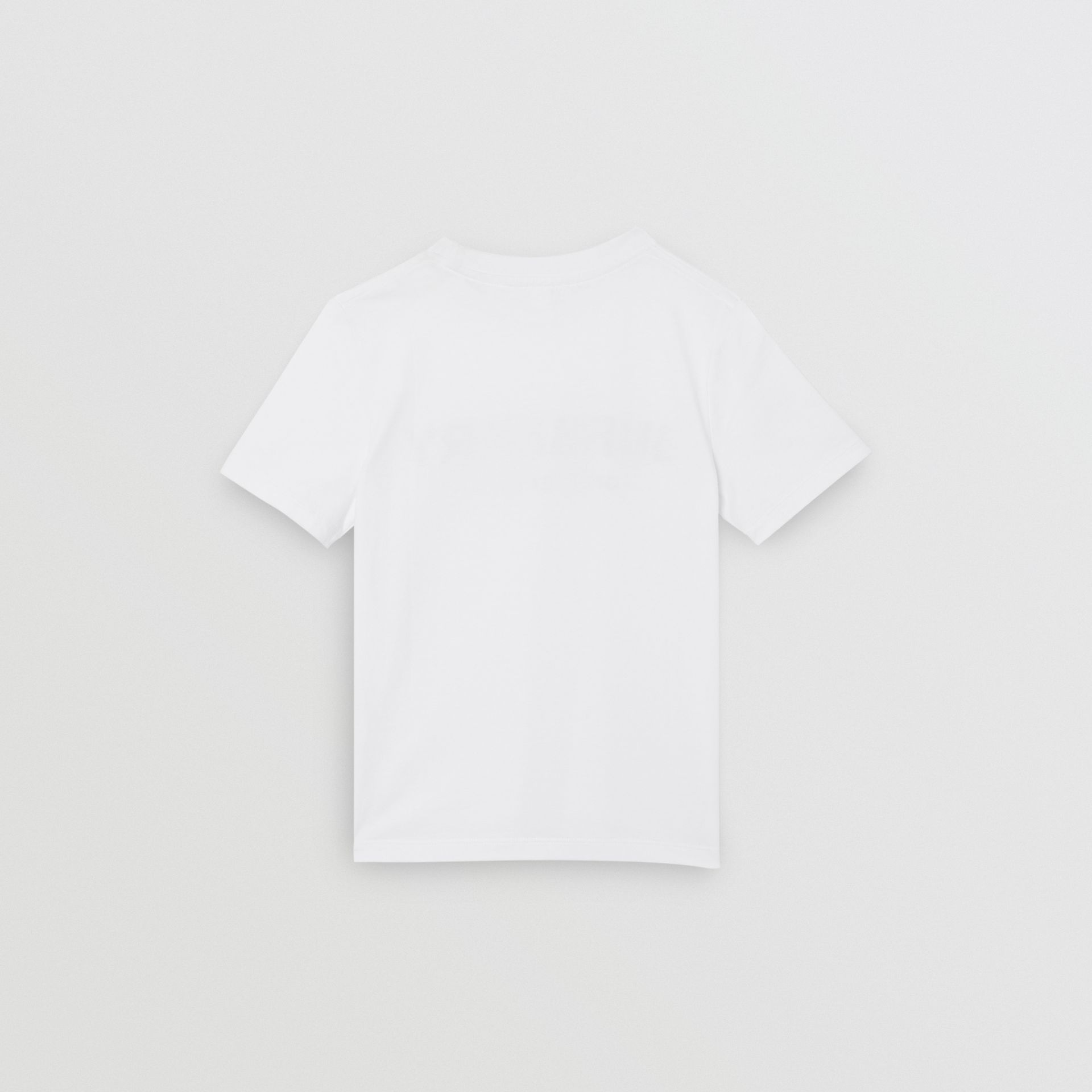 Logo Print Cotton T-shirt in White | Burberry - gallery image 4