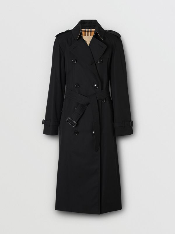 The Long Waterloo Heritage Trench Coat in Black - Women | Burberry United States - cell image 3