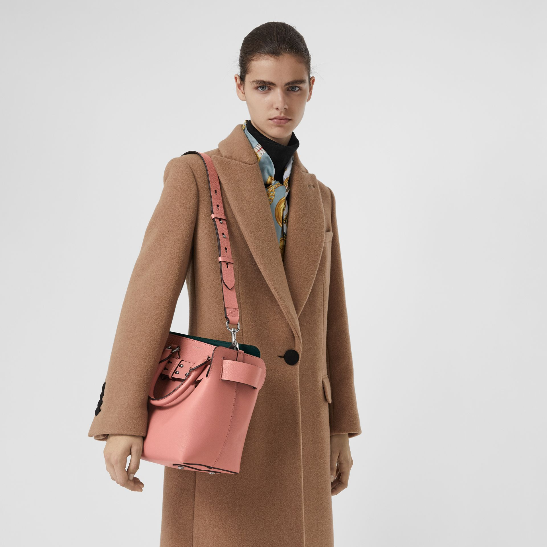 The Small Leather Belt Bag in Dusty Rose - Women | Burberry United Kingdom - gallery image 3