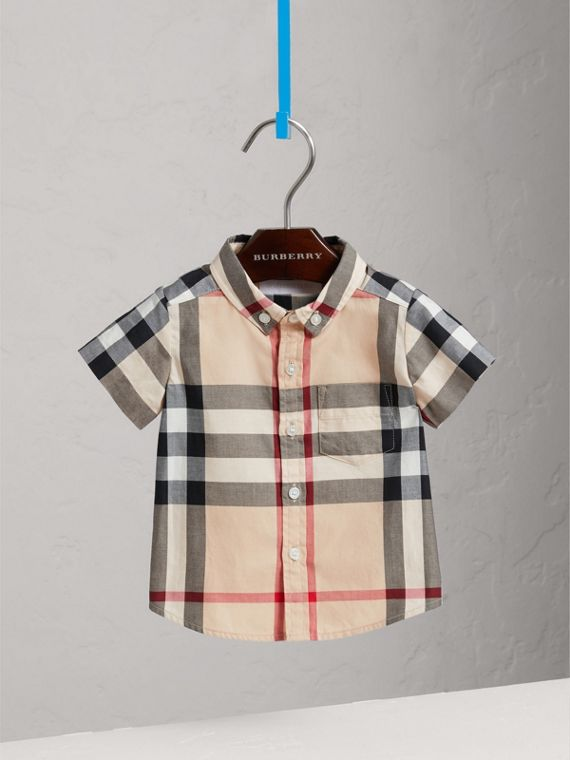 Check Cotton Twill Shirt in New Classic - Boy | Burberry - cell image 2