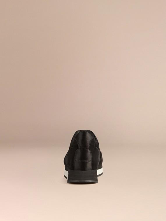 黑色 The Field 蕾絲與麂皮野地運動鞋 - cell image 3