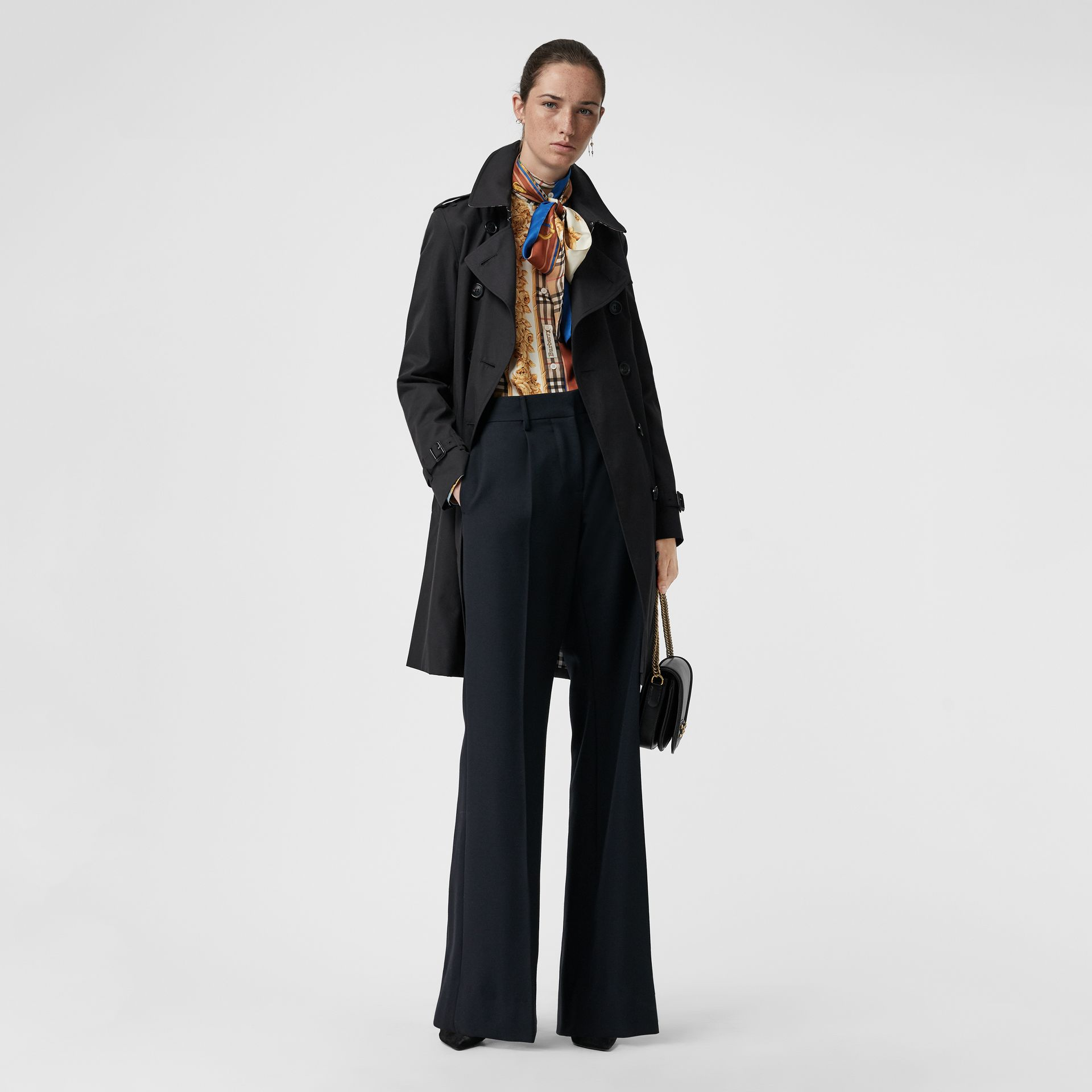 Trench coat Heritage The Kensington (Blu Notte) - Donna | Burberry - immagine della galleria 6