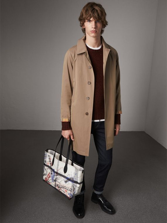 The Medium Doodle Tote in wendbarem Design (Weiss/schwarz) | Burberry - cell image 3