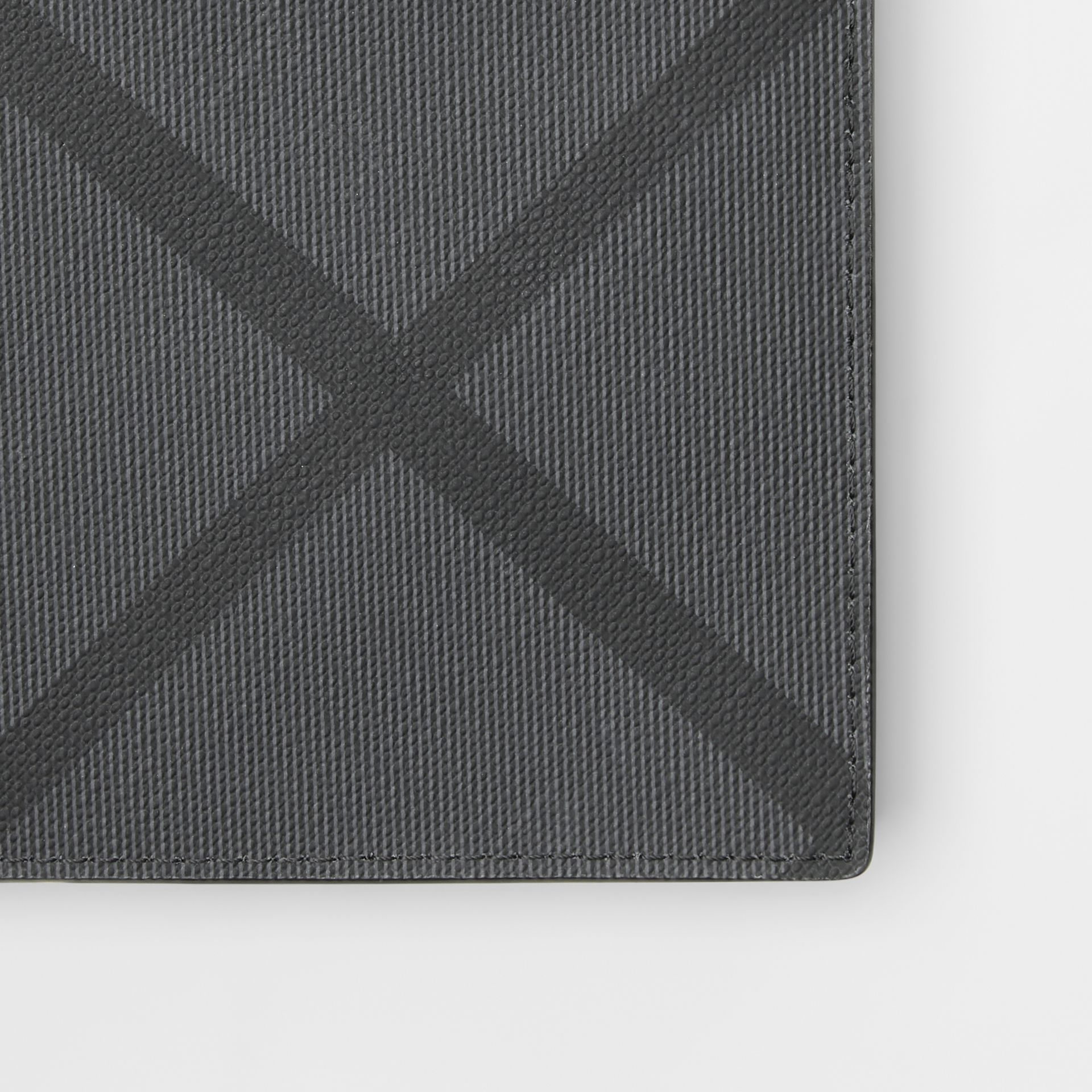 London Check International Bifold Coin Wallet in Charcoal/black - Men | Burberry United Kingdom - gallery image 1