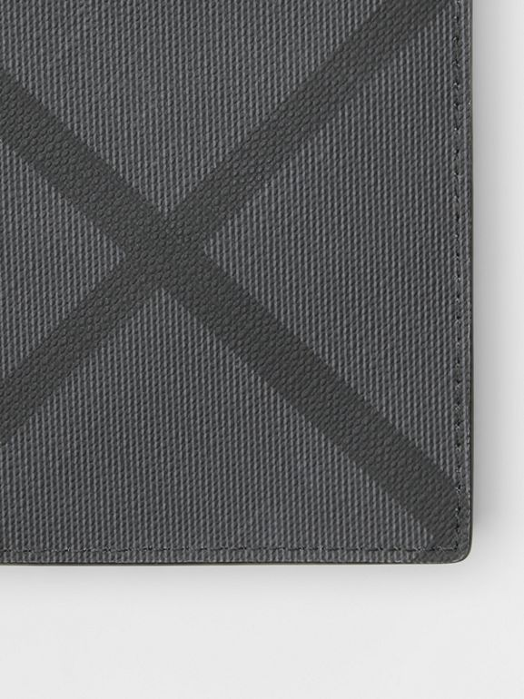 London Check International Bifold Coin Wallet in Charcoal/black - Men | Burberry United Kingdom - cell image 1