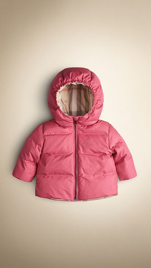 Camelia pink Check-Lined Puffer Jacket Camelia Pink - Image 1