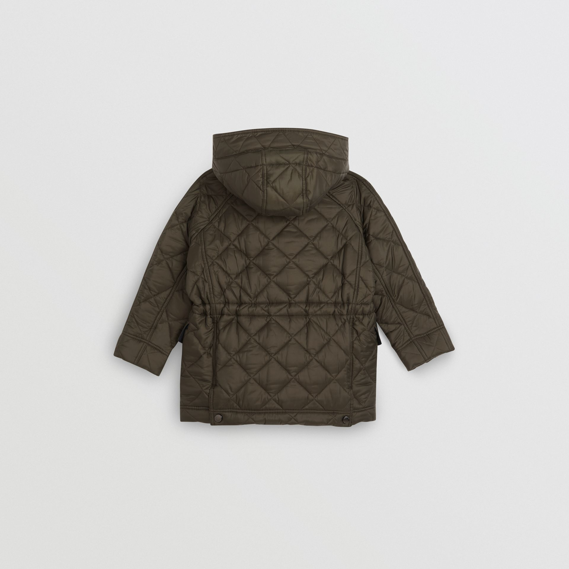 Diamond Quilted Hooded Jacket in Oregano - Boy | Burberry United Kingdom - gallery image 3