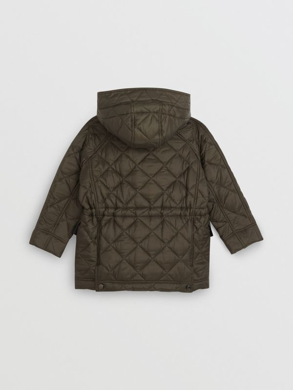 Diamond Quilted Hooded Jacket in Oregano | Burberry - cell image 3
