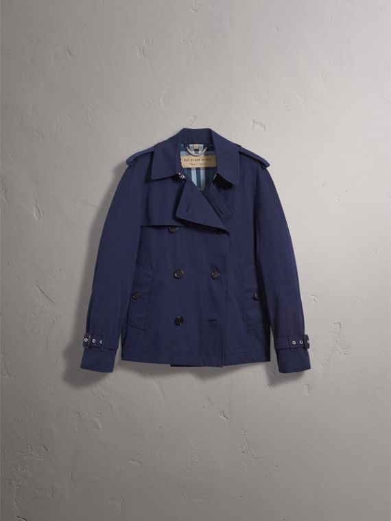 Unisex Tropical Gabardine Trench Jacket in Blueberry - Men | Burberry Hong Kong - cell image 2