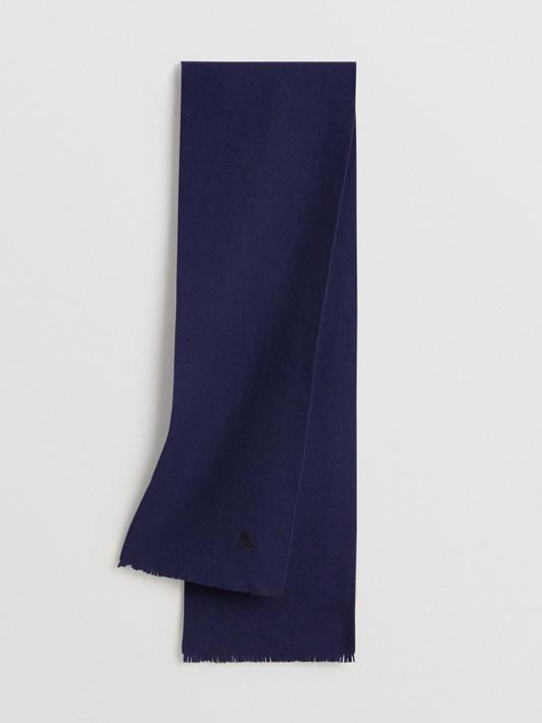 Écharpe en laine feutrée brodée (Marine)