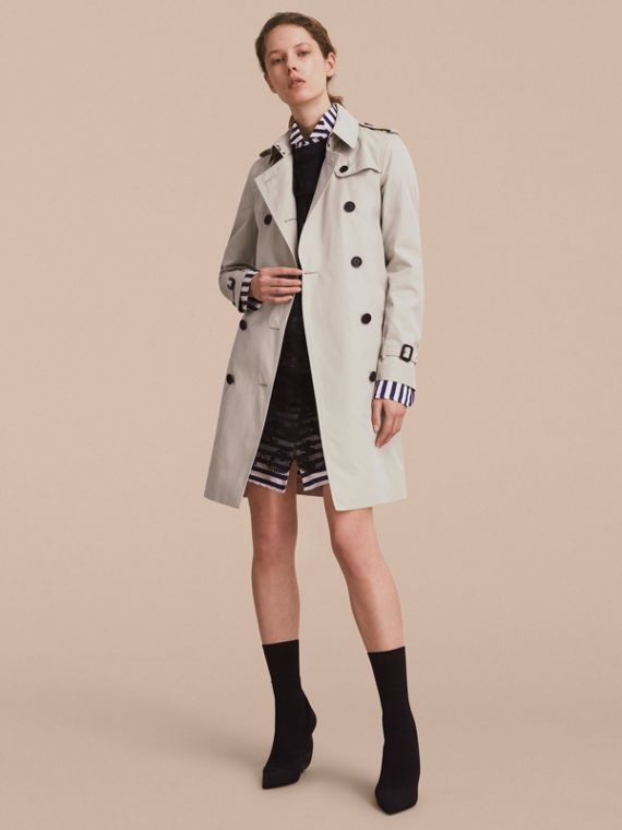 The Kensington – Long Heritage Trench Coat Stone