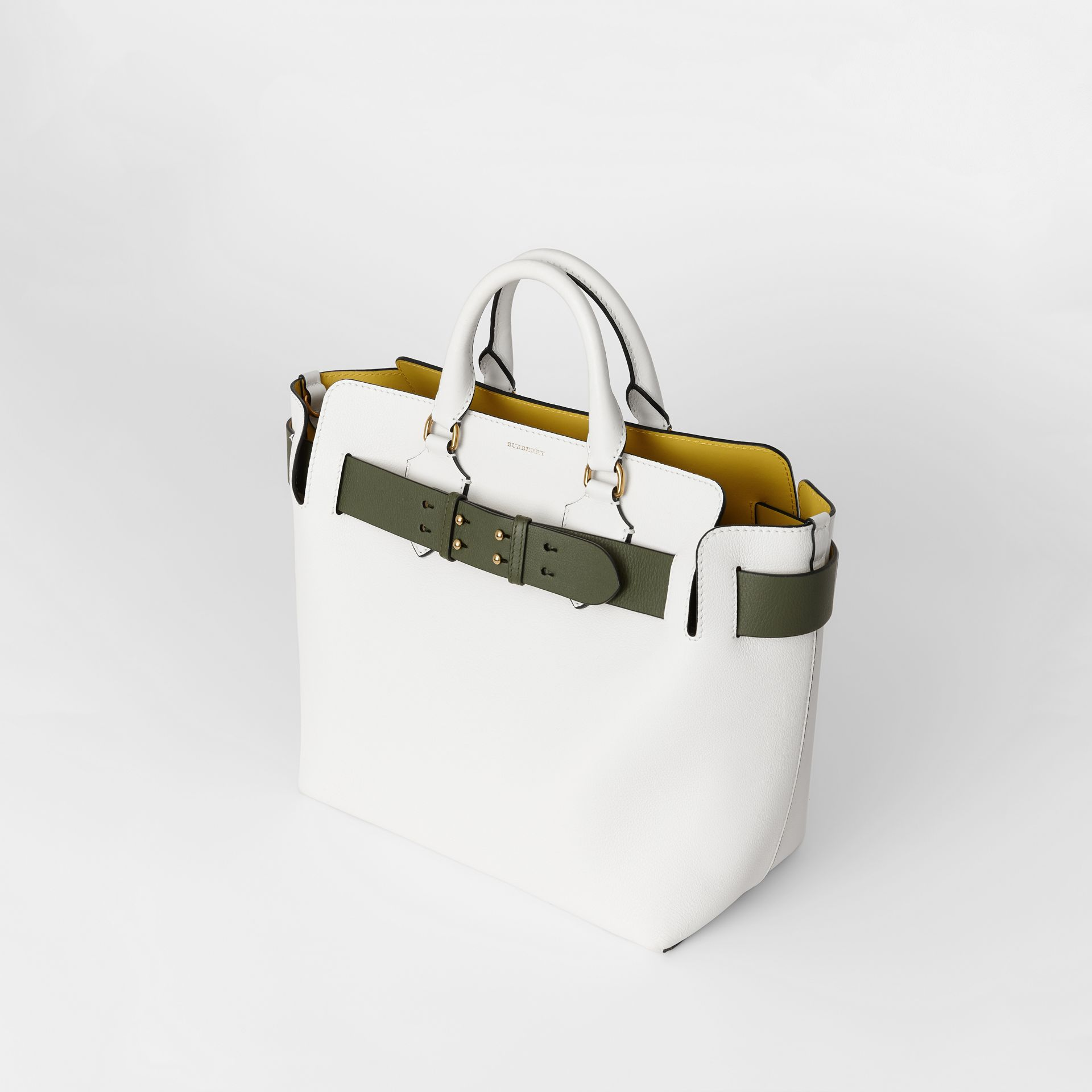 The Medium Leather Belt Bag in Chalk White - Women | Burberry - gallery image 4