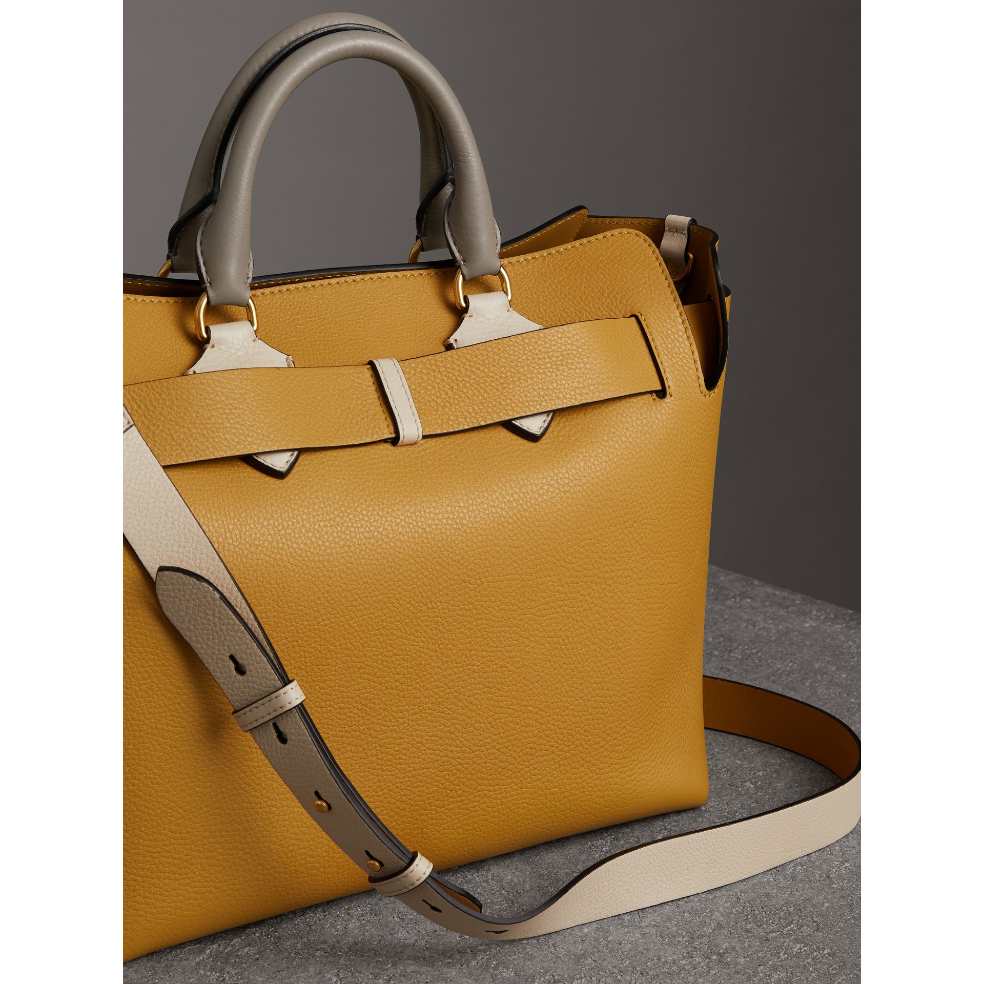 The Medium Tri-tone Leather Belt Bag in Limestone/cornflower Yellow - Women | Burberry United Kingdom - gallery image 4