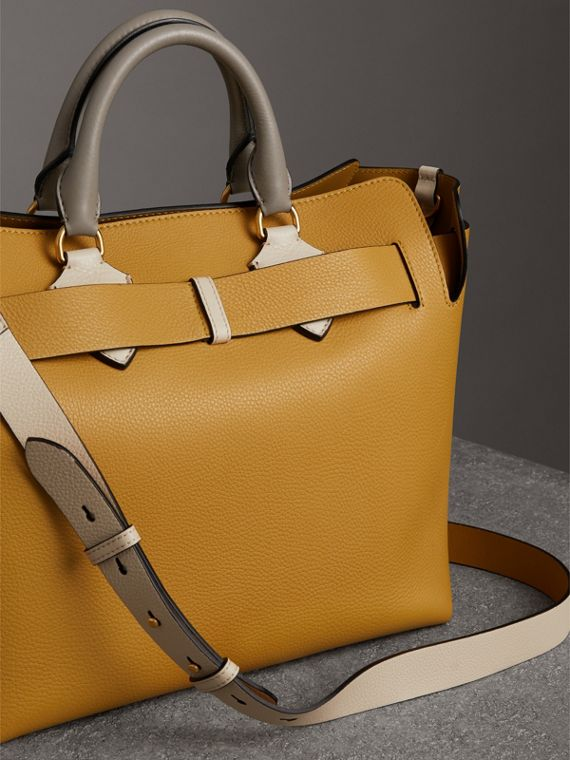 The Medium Tri-tone Leather Belt Bag in Limestone/cornflower Yellow - Women | Burberry United Kingdom - cell image 2