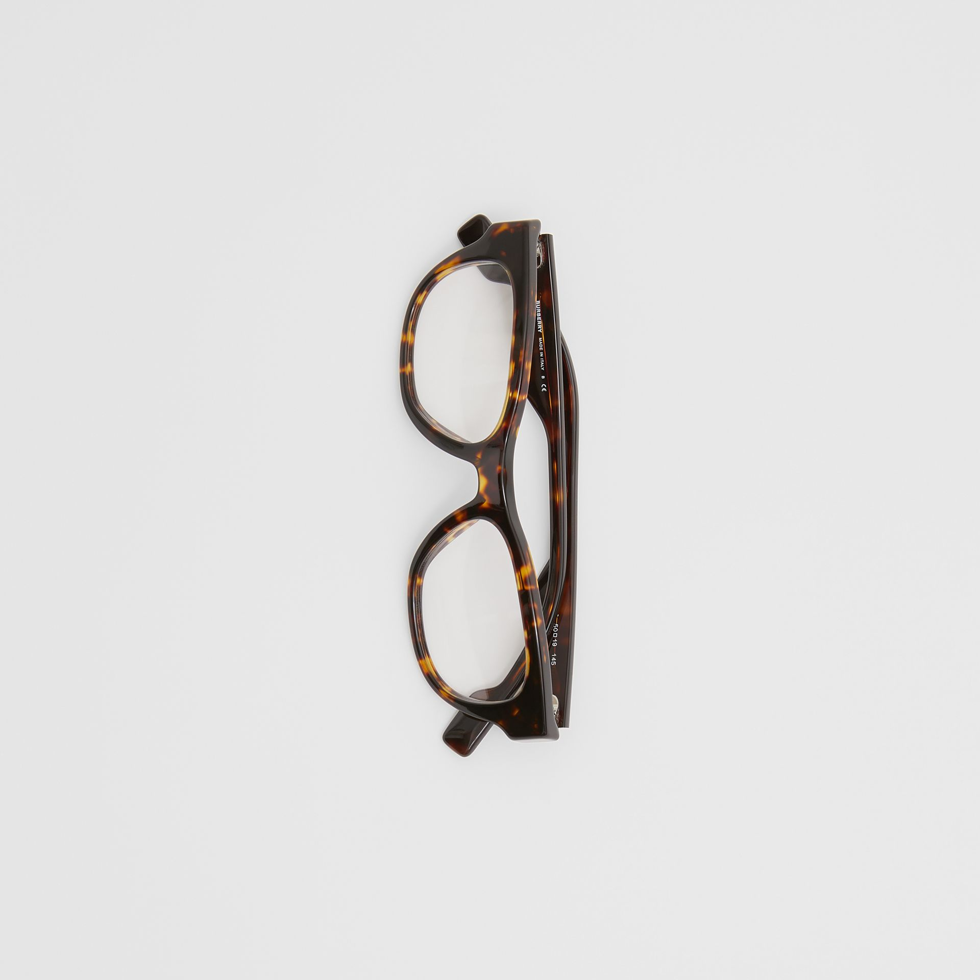 Square Optical Frames in Tortoiseshell - Men | Burberry United Kingdom - gallery image 3