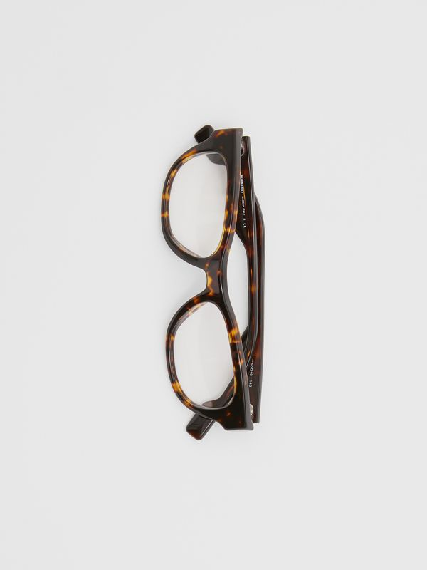 Square Optical Frames in Tortoiseshell - Men | Burberry Australia - cell image 3