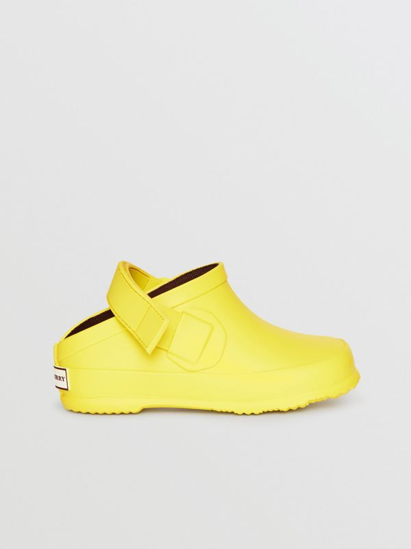Check Detail Rubber Sandals in Citron - Children | Burberry Canada - cell image 3