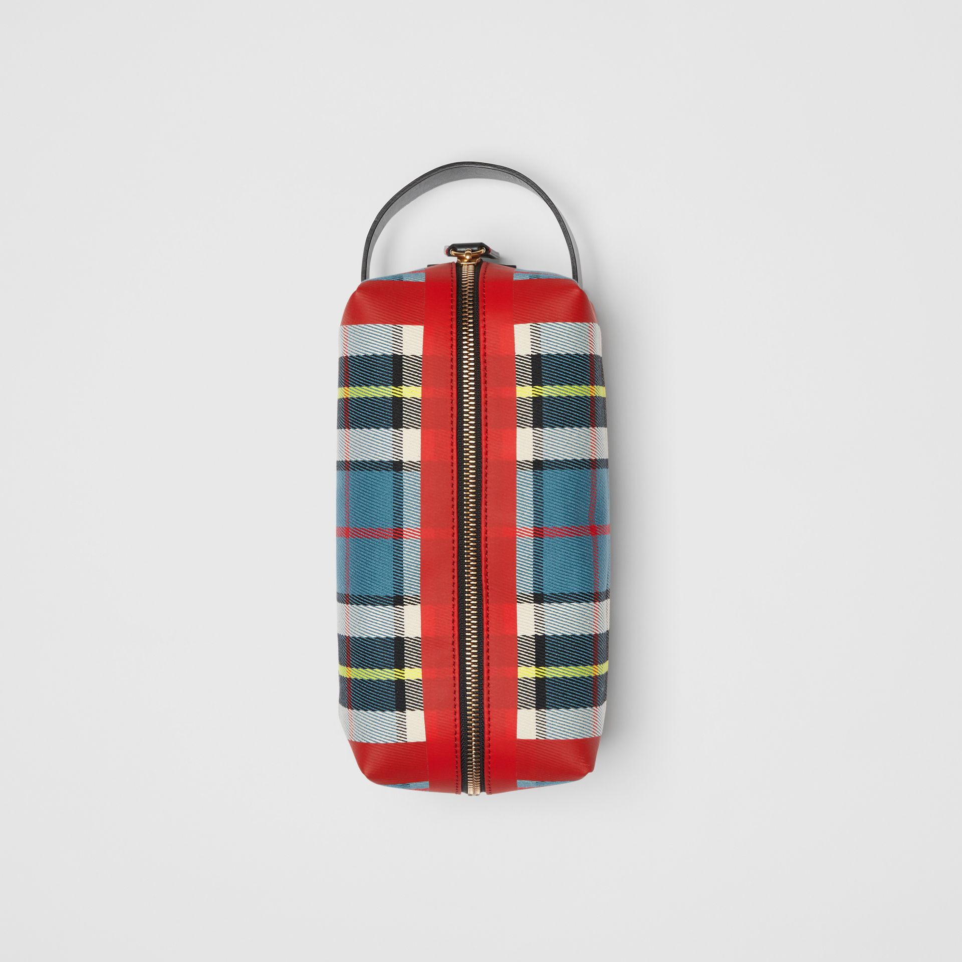 Tartan Cotton Pouch in Blue   Burberry - gallery image 0
