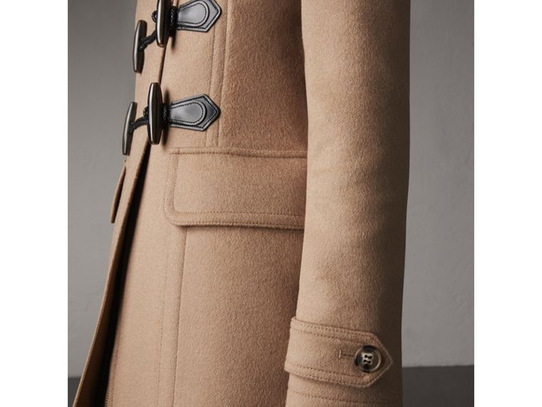Fitted Wool Duffle Coat in New Camel - Women | Burberry Australia - cell image 1