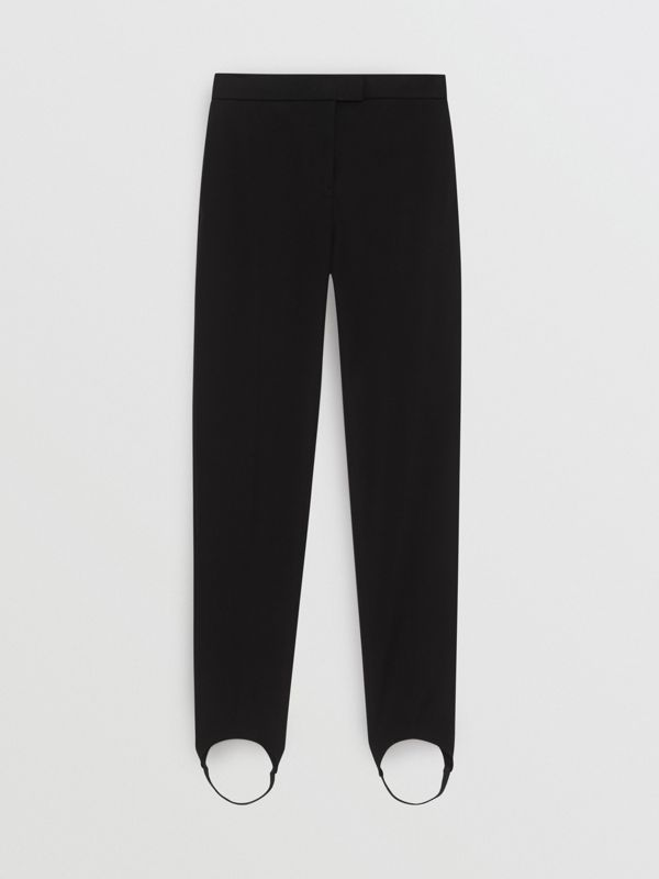 Long Cotton Blend Tailored Jodhpurs in Black - Women | Burberry - cell image 3