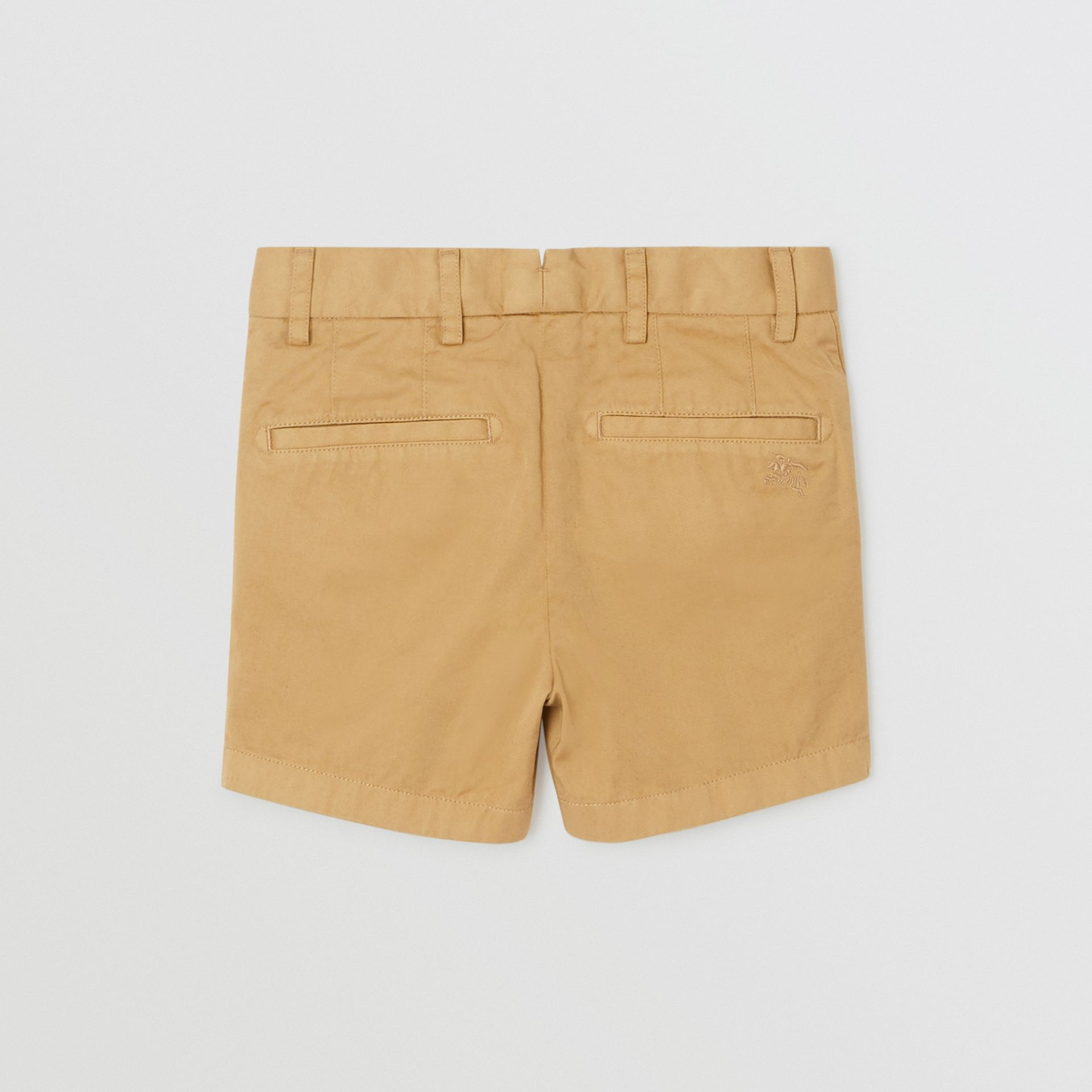 Cotton Chino Shorts in Taupe | Burberry - gallery image 3