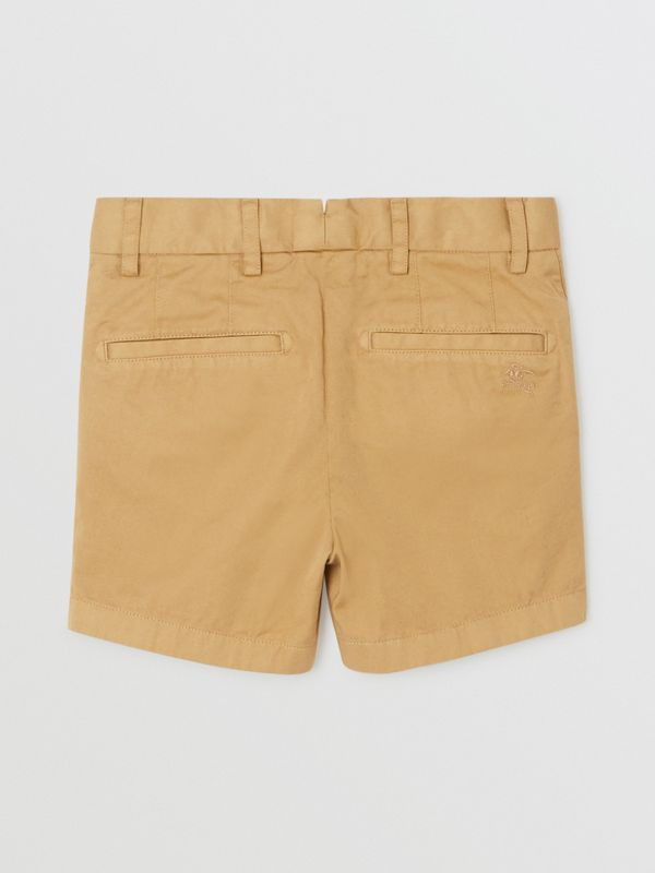 Cotton Chino Shorts in Taupe | Burberry - cell image 3