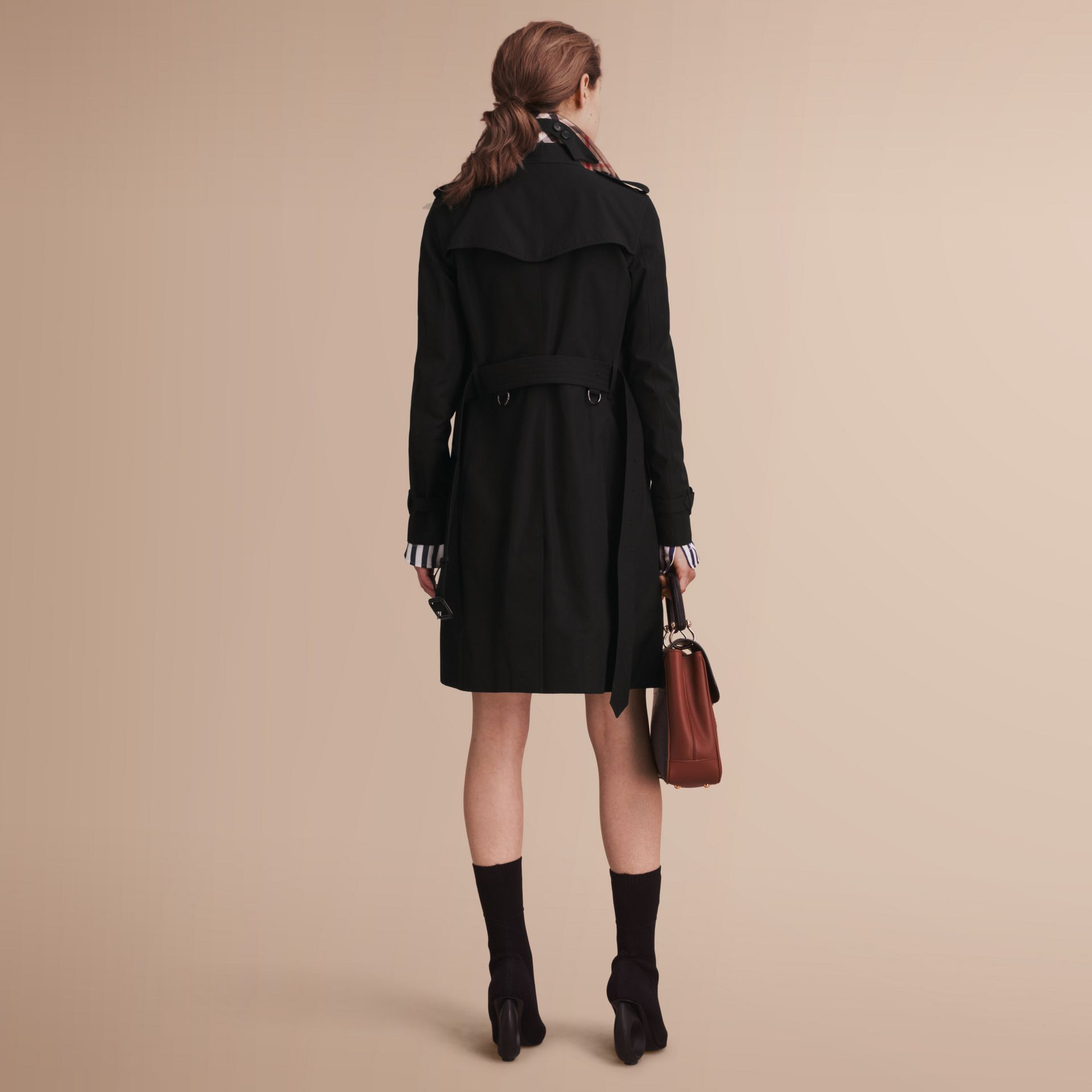 The Kensington – Long Heritage Trench Coat Black - gallery image 3