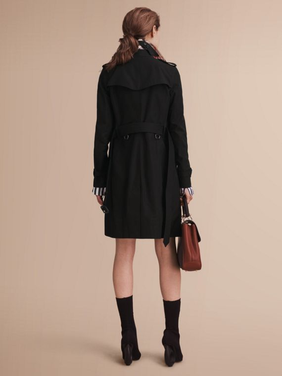 The Kensington – Long Heritage Trench Coat in Black - cell image 2