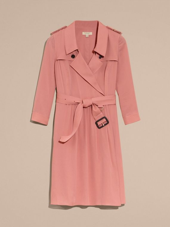 Silk Trench Dress Light Copper Pink - cell image 3