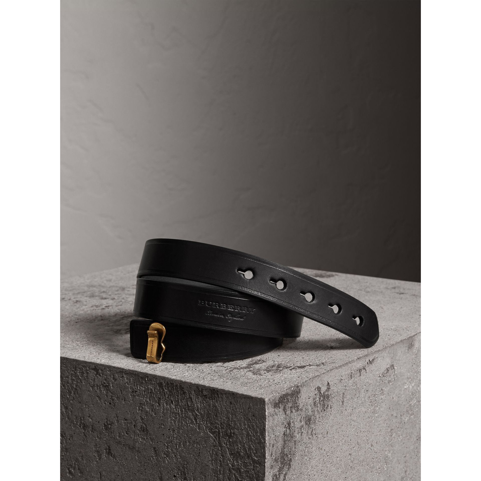 Bridle Leather Belt in Black - Women | Burberry - gallery image 0