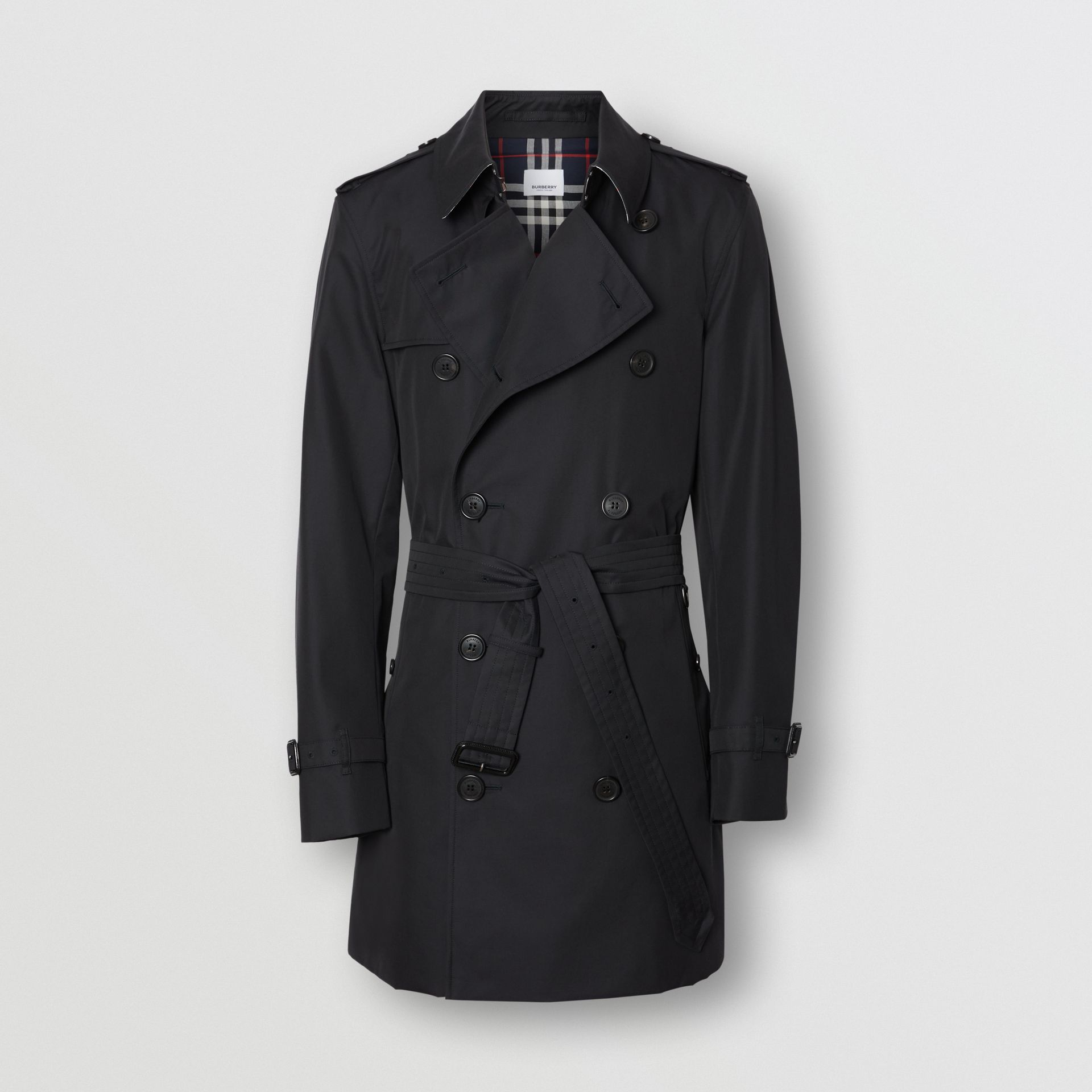 Cotton Gabardine Trench Coat in Midnight Navy - Men | Burberry United Kingdom - gallery image 3