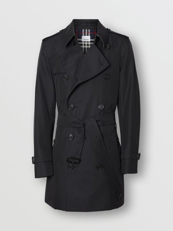Cotton Gabardine Trench Coat in Midnight Navy - Men | Burberry United Kingdom - cell image 3