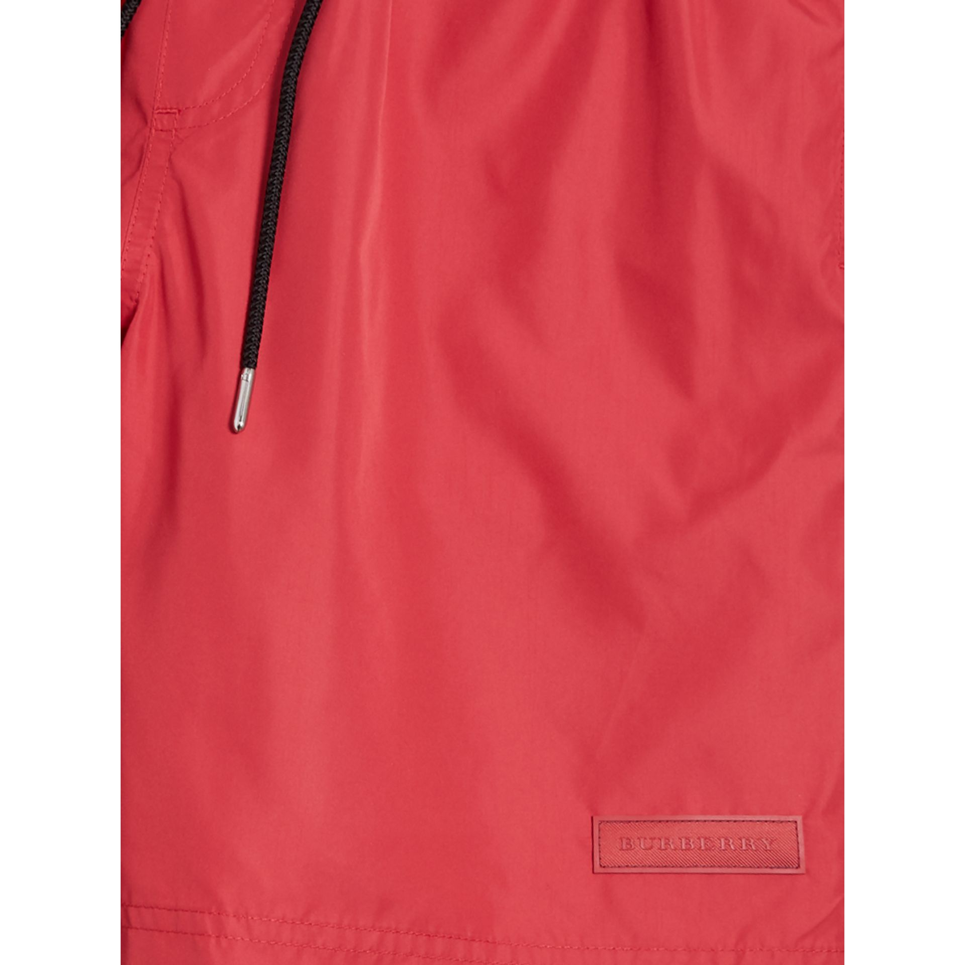 Drawcord Swim Shorts in Parade Red - Men | Burberry United Kingdom - gallery image 1