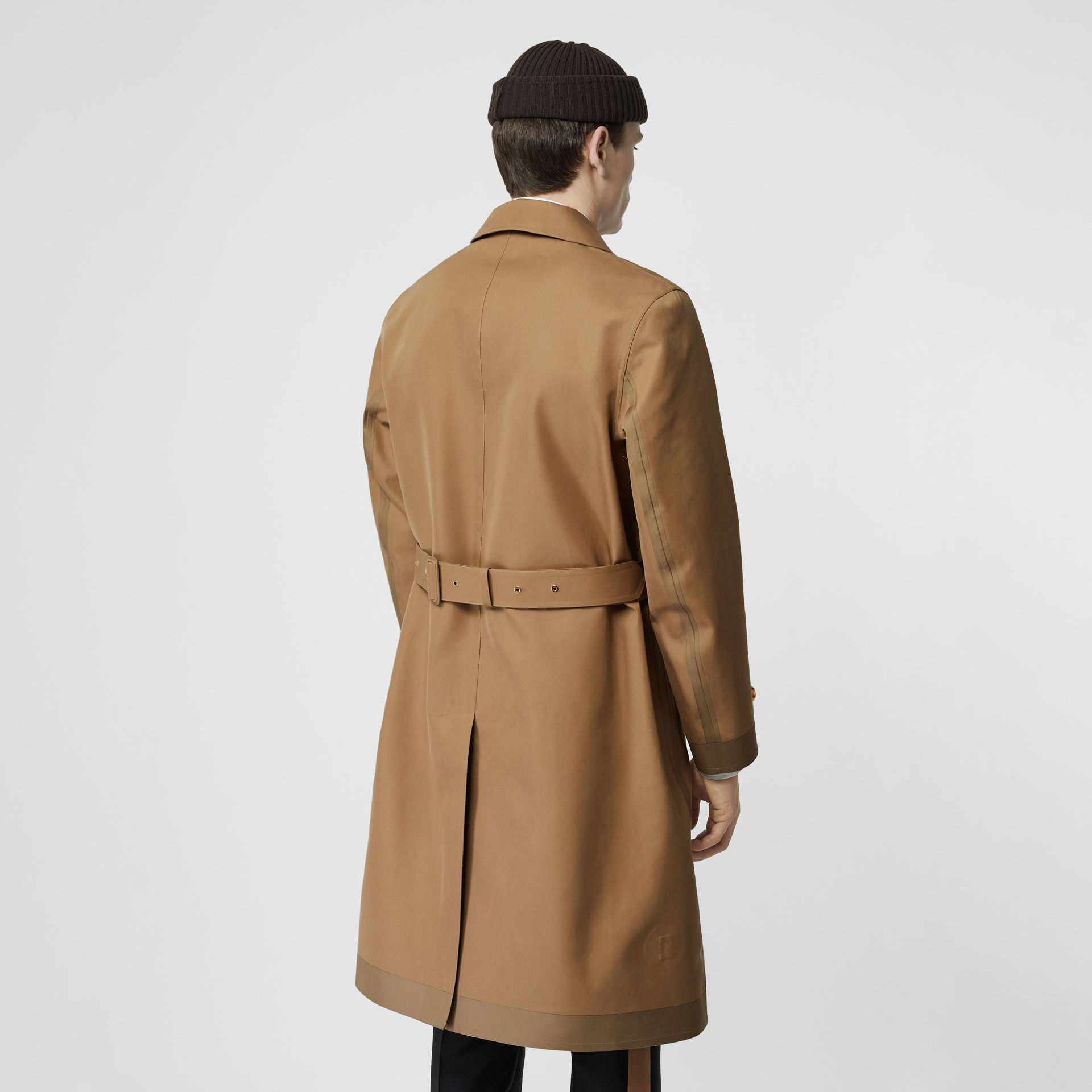 Double-faced Cotton Silk Car Coat in Camel - Men | Burberry Singapore - gallery image 1