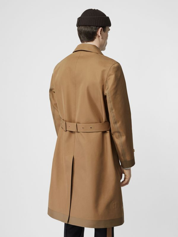 Car coat in cotone e seta double face (Cammello) - Uomo | Burberry - cell image 2