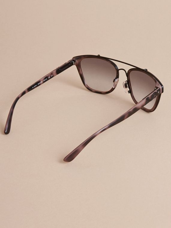 Top Bar Square Frame Sunglasses Tortoiseshell - cell image 3