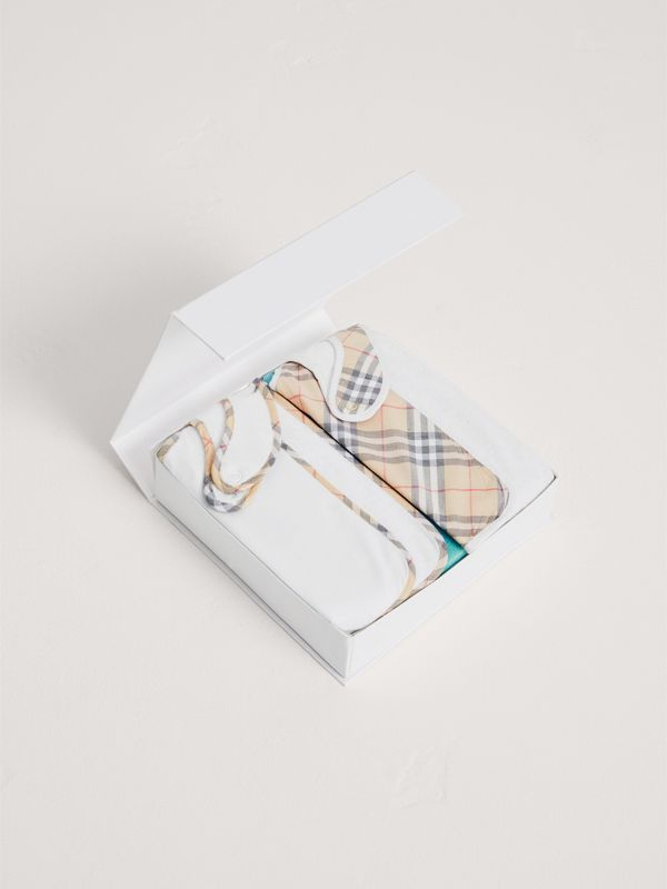 Cotton Two-piece Baby Gift Set in White | Burberry United Kingdom - cell image 2