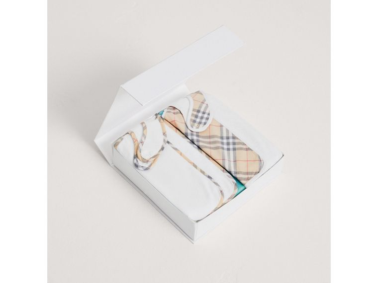 Cotton Two-piece Baby Gift Set in White | Burberry Canada - cell image 2