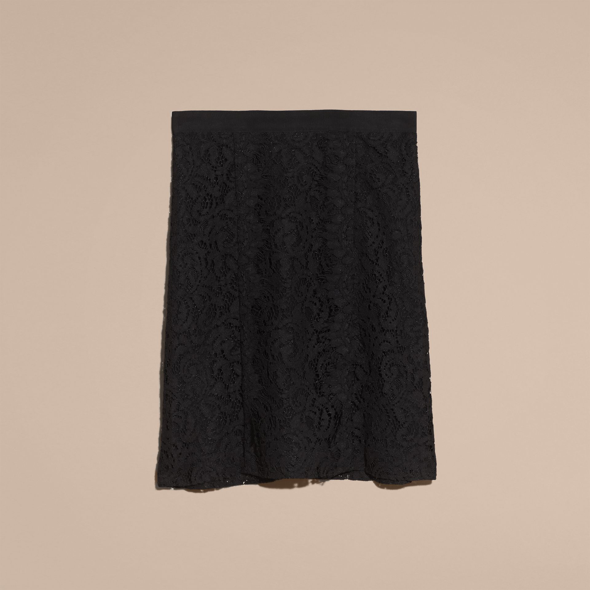 Black A-Line Lace Skirt - gallery image 4