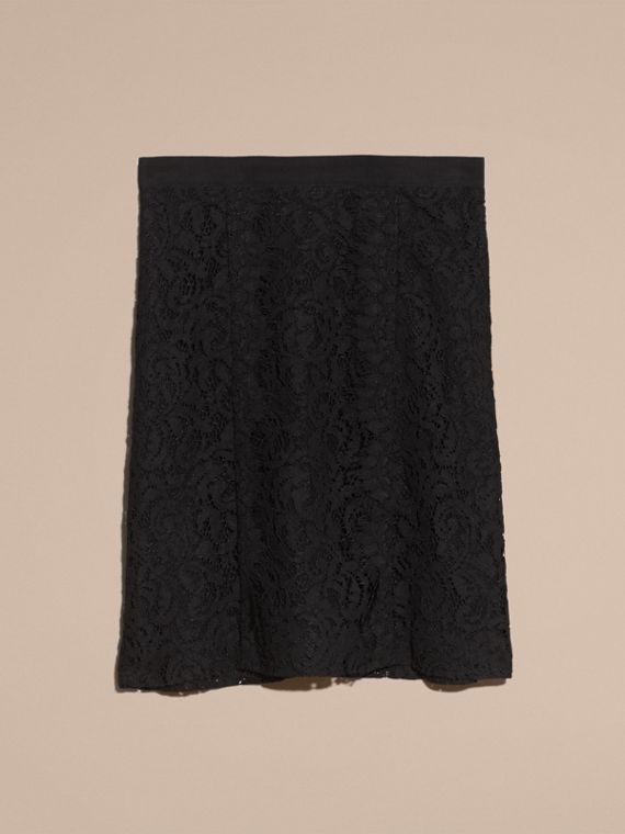 Black A-Line Lace Skirt - cell image 3