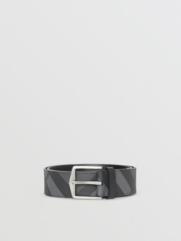 London Check Belt in Charcoal/black - Men | Burberry - cell image 3