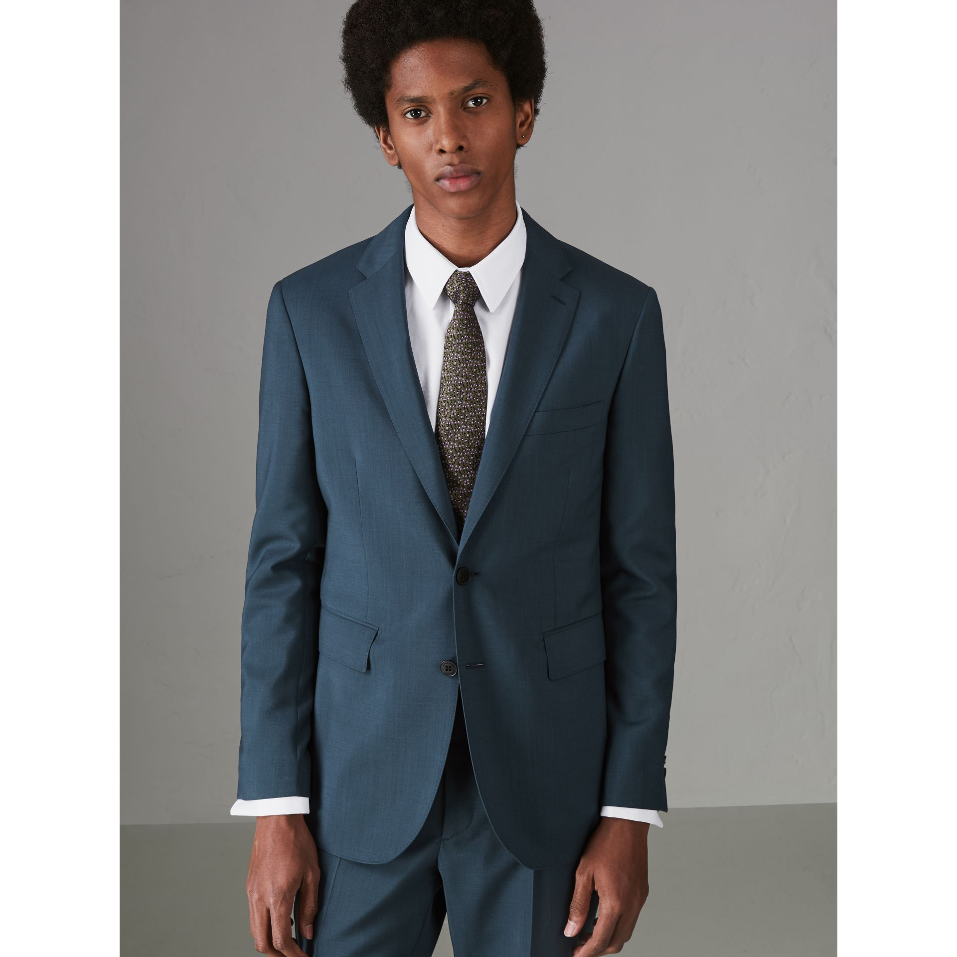 Soho Fit Wool Mohair Suit in Dark Pewter Blue - Men | Burberry - gallery image 4