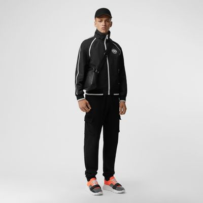 Crest Detail Funnel Neck Track Top by Burberry