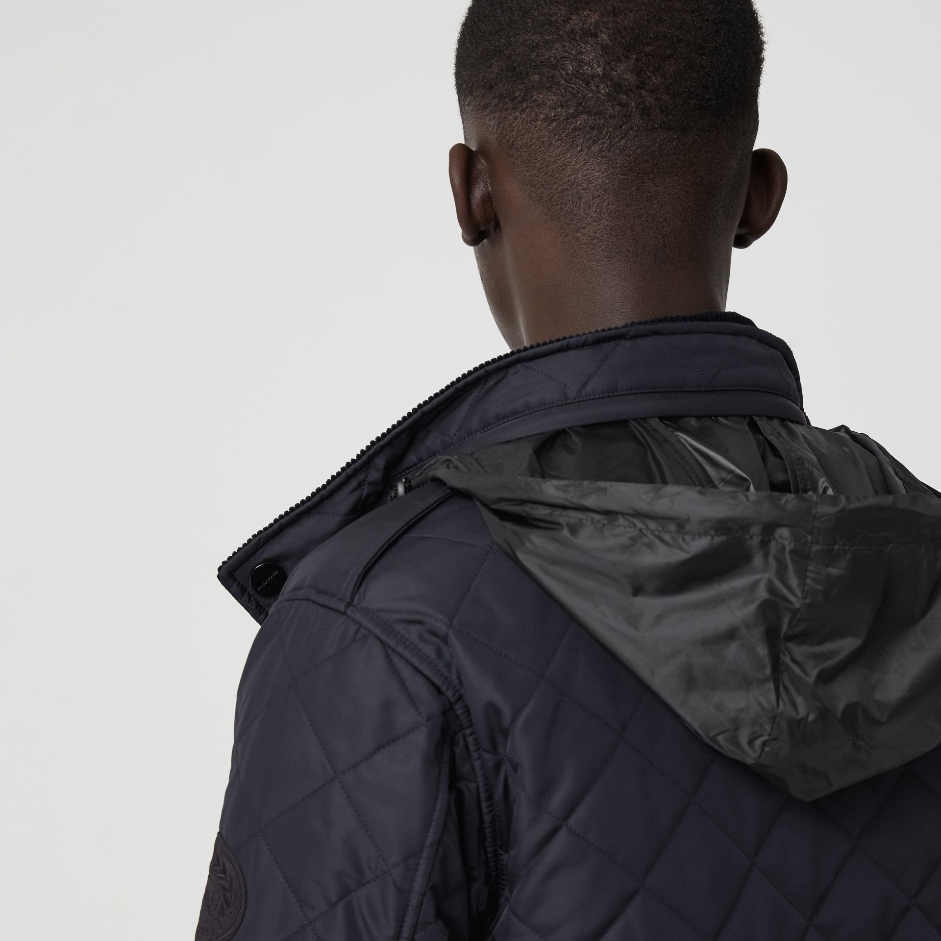 Diamond Quilted Thermoregulated Field Jacket in Navy - Men | Burberry United States - gallery image 4