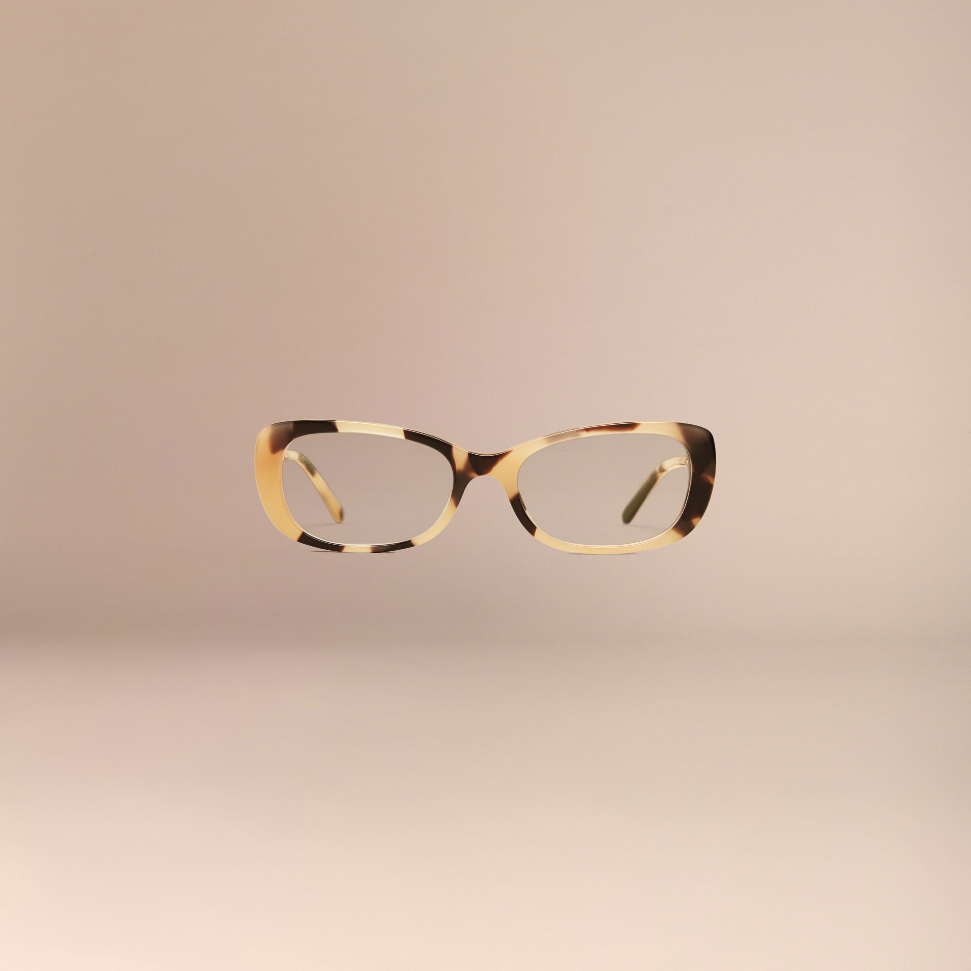 Light horn Gabardine Collection Oval Optical Frames - gallery image 3