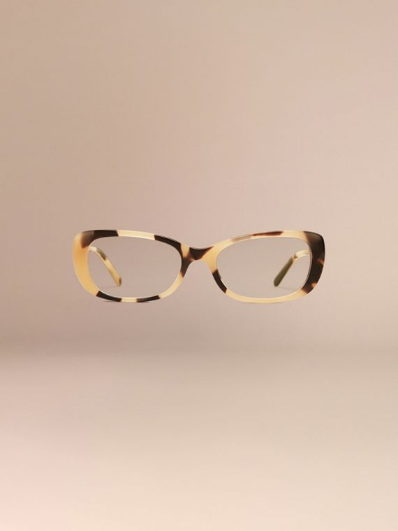 Light horn Gabardine Collection Oval Optical Frames - cell image 2