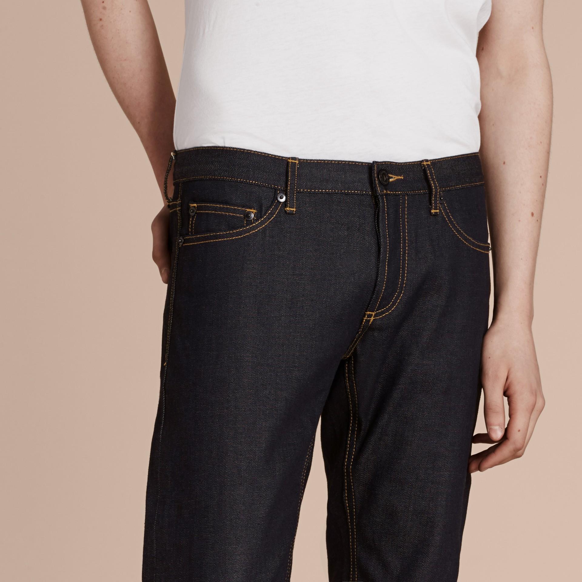 Indigo Skinny Fit Indigo Selvedge Jeans - gallery image 5