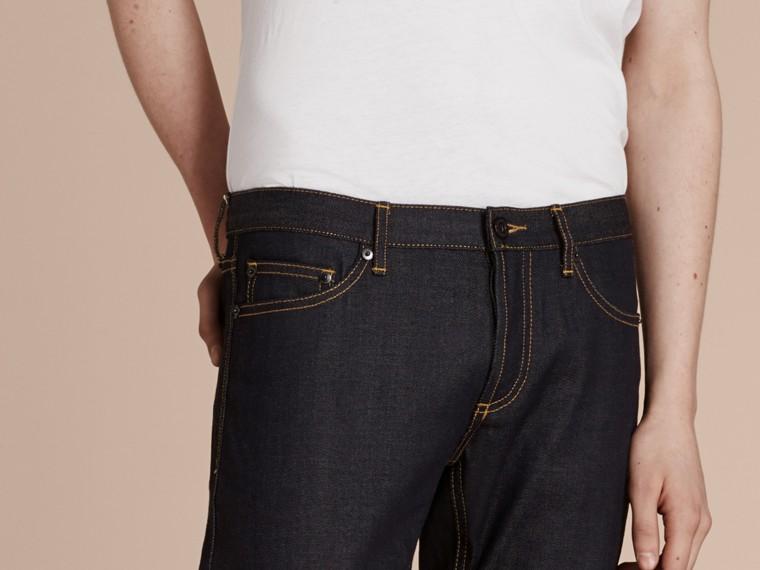 Indigo Skinny Fit Indigo Selvedge Jeans - cell image 4