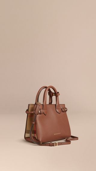Sac The Baby Banner en cuir et coton House check