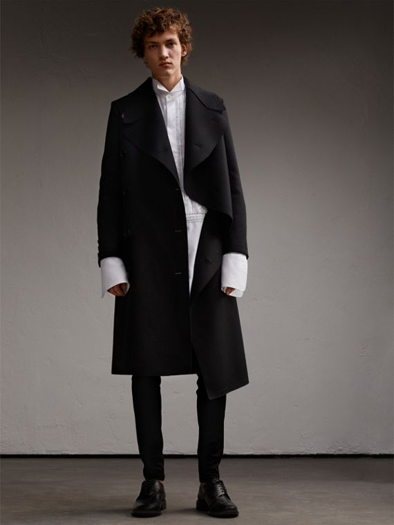 Military Wool Asymmetric Topcoat